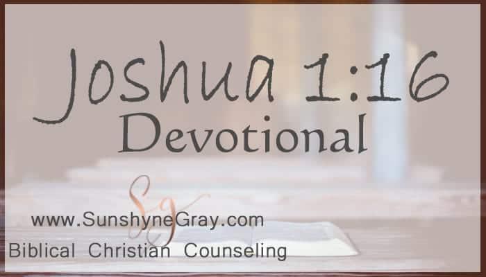 mini scripture devotional Joshua 1:16