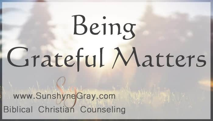 why being grateful matters