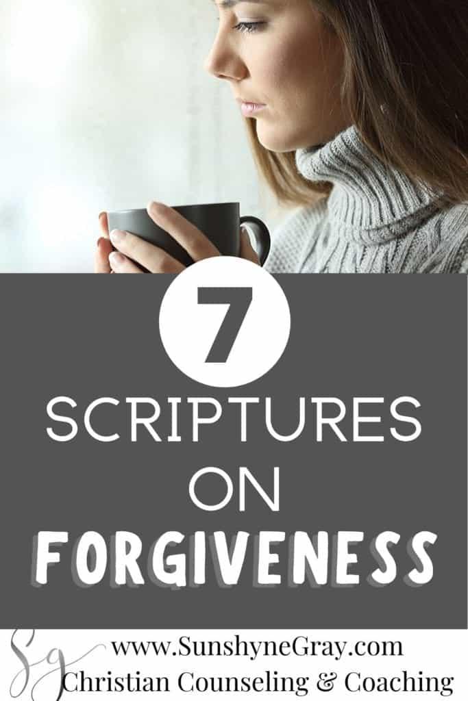 7 Scriptures on forgiveness
