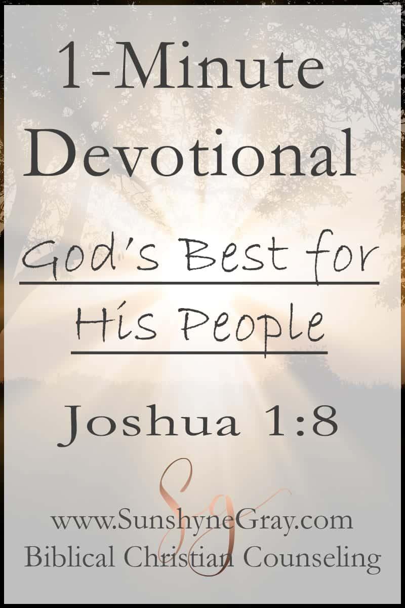 joshua 1:8 scripture devotional