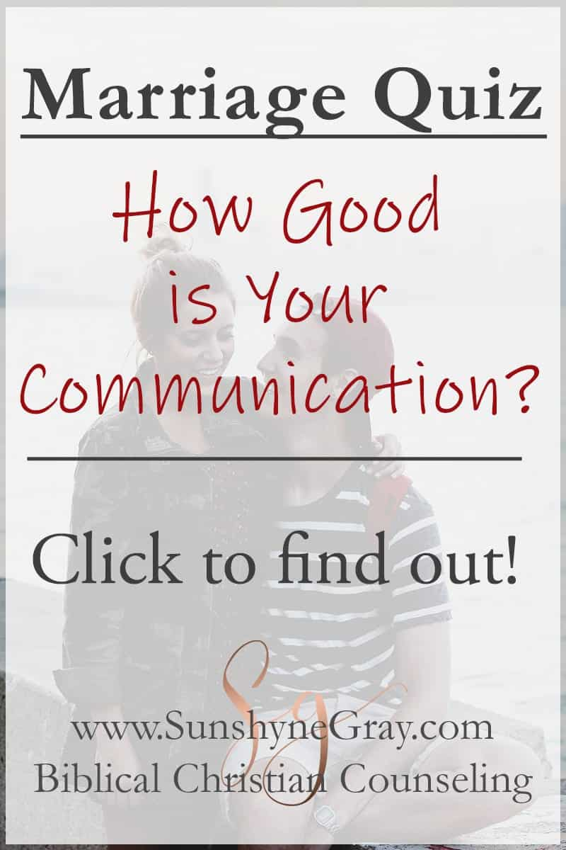Marriage Communication Skills Quiz - Christian Counseling
