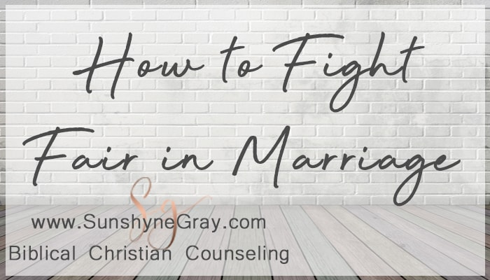 rules of fighting fair in marriage