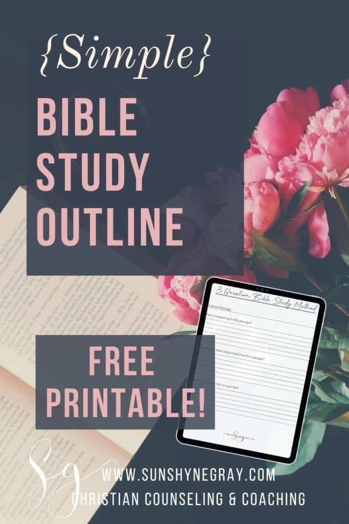bible study free printable