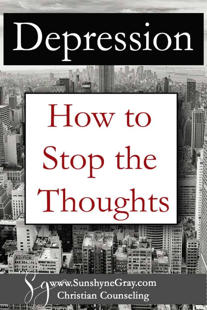 how to stop depressing thoughts