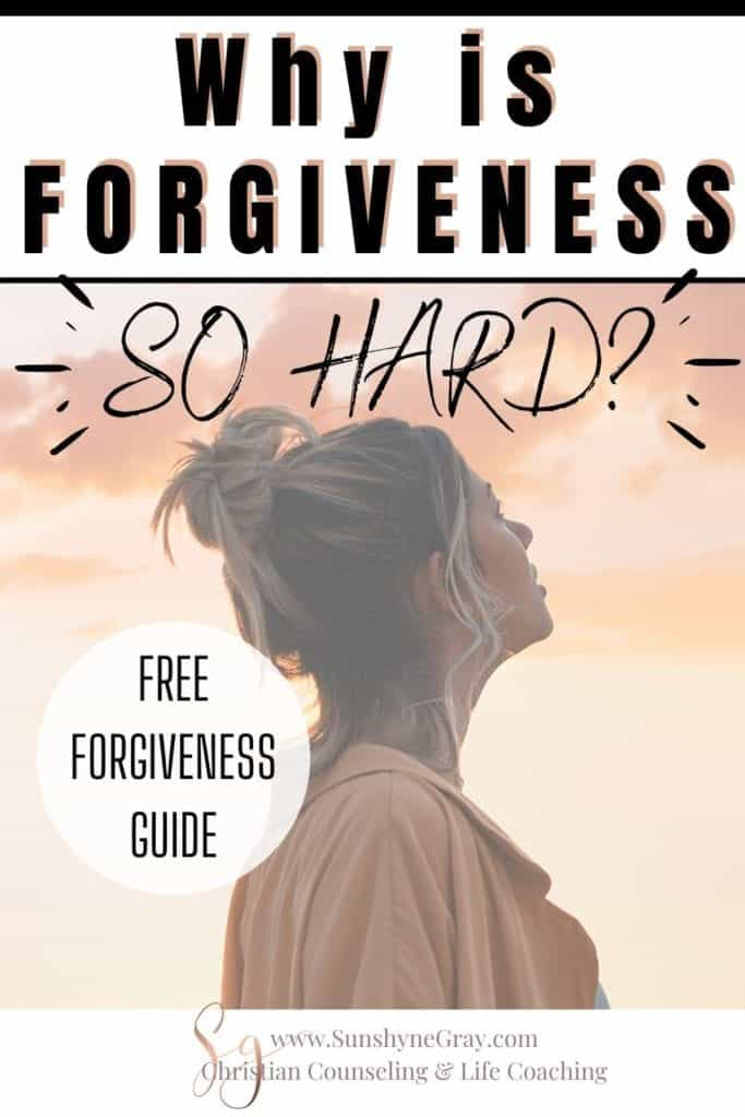 Why is forgiveness is so hard