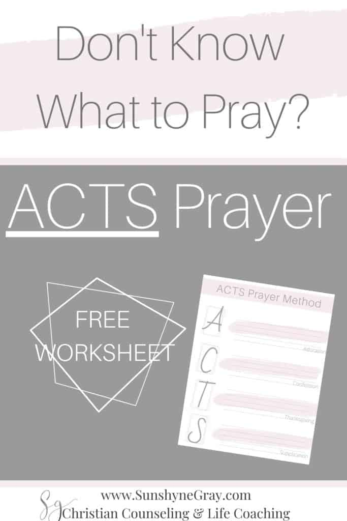 acts prayer method
