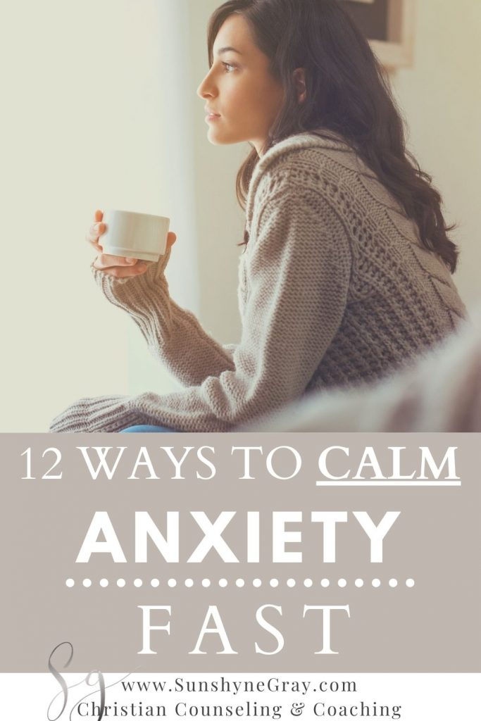 woman sipping coffee calming anxiety